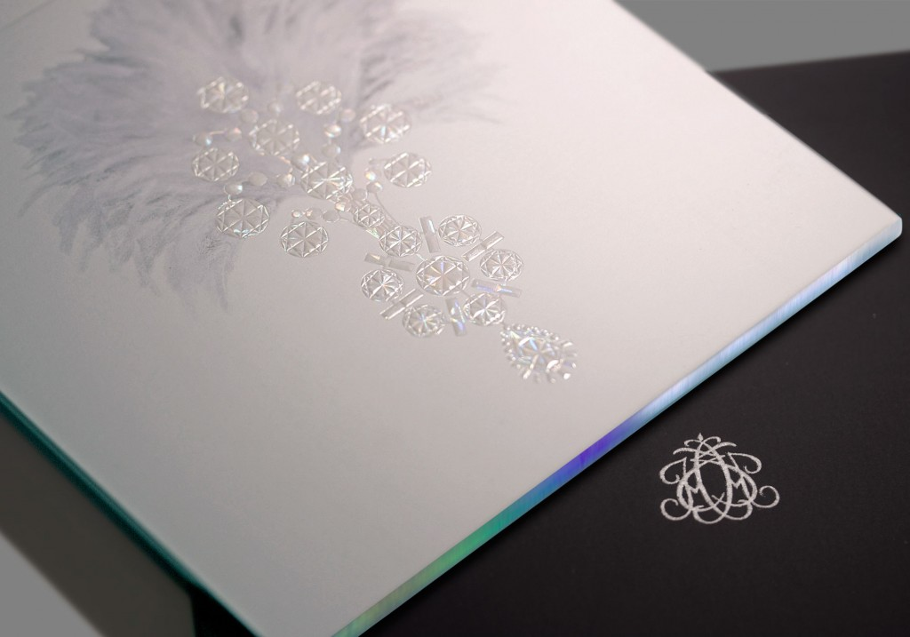 Luxury invitation design housed in bespoke box packaging